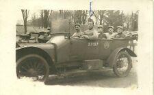 carte postale grande guerre soldat dans voiture Brazier en 1918