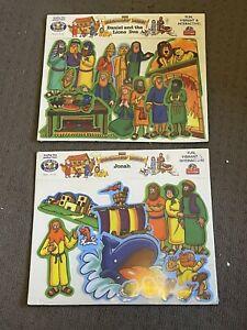RARE! The beginners bible - jonah & daniel and the lions den little folk visuals