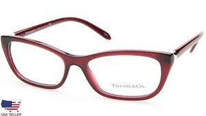 NEW TIFFANY & Co. TF 2136 8003 OPAL RED EYEGLASSES FRAME 53-16-140 B32mm Italy