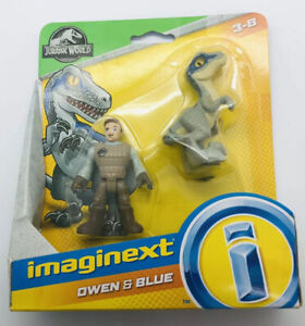 Imaginext Jurassic World Owen & Blue Velociraptor