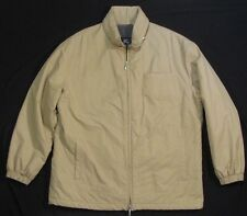 BURBERRY LONDON ~ Cotton Blend Fleece Lined Full Zip Jacket ~ Men's Medium - Tan