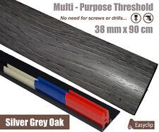New Silver Grey Oak Multi-Purpose Threshold Strip 38mmx90cm Multi-Height&Pivot
