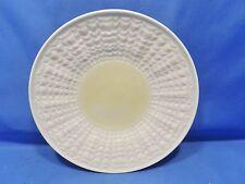 Belleek Pottery Ireland Tridacna Yellow embossed, white background, bread plate