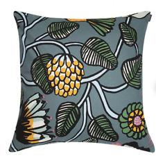"""Marimekko 20"""" Tiara cotton pillow case cushion cover Finland blue"""