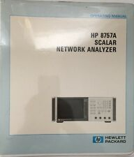 HP 8757A Scalar Network Analyzer Operating Manual P/N 08757-90001