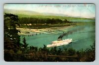 Vancouver BC, SS Princess, The Narrows Vintage British Columbia Canada Postcard