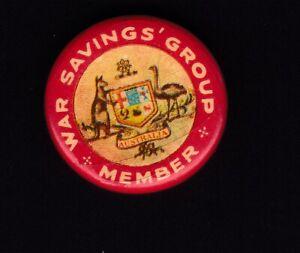 WW2 Australian War Savings group members badge