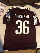 Trikot FC Bayern 2007 Champions League 176 Fürstner mit Patches