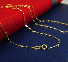 Damen,Herren Bezaubernde Silberkette Gelb-Gold, echte Sterling Silber 925, 45 cm