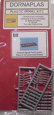 Dornaplas B8 - 18 x Dummy Ground Signal Point Levers 00 Gauge Plastic Kit - 1stP