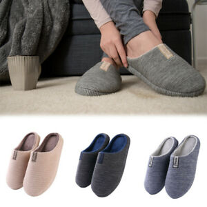 Women Men Unisex Indoor Slipper Soft Sole Slip-On Winter Warm Fluffy House Shoes