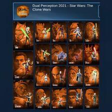 DUAL PERCEPTIONS-CLONE WARS-19 CARD SET-TOPPS STAR WARS CARD TRADER DIGITAL