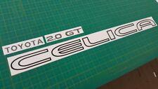 Toyota Celica 2.0 GT ST162 Trasero Escotilla calcomanías adhesivas contorno cualquier color claro OEM