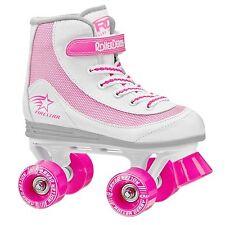Roller Derby 1978-12 Youth Girls Firestar Roller Skate, Size 12, White/Pink