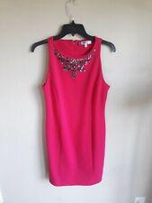 Jennifer Lopez Pink Dress Size 8 Jewel Embellished Knee Length