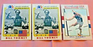 BILL TOOMEY LOT OF 3 1983 OLYMPICS GREATEST OLYMPIANS #21 1991 IMPEL #23 TRACK
