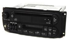 2001 Dodge Dakota Radio AM FM CS CD Player w Aux 3.5 Input P0485840AH RAZ Twin 7