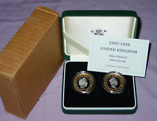 1997 & 1998  ROYAL MINT SILVER PROOF £2 TWO COIN SET - 2nd & 3rd Decimal Effigy