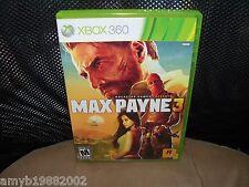 Max Payne 3  (Xbox 360, 2012) EUC FREE USA SHIPPING