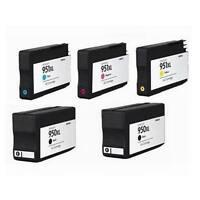 5-PK Compatible HP ink cartridges for HP 950XL 951 XL OfficeJet Pro 8100 8600