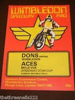 SPEEDWAY - WIMBLEDON V  BELLE VUE - MAY 29 1980