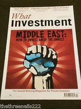 WHAT INVESTMENT #337 - MIDDLE EAST - APRIL 2011