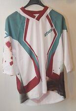 Original maillot motocross moto  THOR Static Rage  T:  M  blanc, vert  neuf