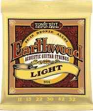 Ernie Ball 2004 Earthwood Acoustic 80/20 bronze Guitar Strings 11-52 lite