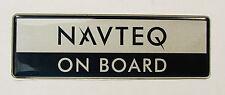 Universal Car Badge Emblem Logo Boot Tailgate NAVTEQ ON BOARD