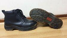 dr martens industrial mens black leather boots steel toe size uk 4 ./ eu 37
