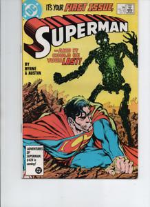 Superman #1 (DC1987) Key Comic 1st Appearance Metallo -VF