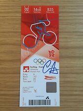 2012 London Olympic personnellement signé billet médaille d'or olympique gagnant Chris Hoy