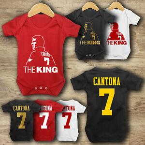 Eric Cantona 7 - The King - Baby Vest - Bodysuit - Man Utd - Baby Grow
