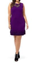 TAYLOR WOMAN purple sleeveless dress ruffle hem plus size 20W NWOT SISLOU K11
