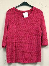 Gestreifte 3/4 Arm Damen-Pullover & -Strickware aus Acryl mit Rundhals