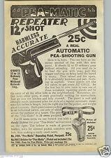 1940 PAPER AD Nu Matic Toy Cap Gun Pistol Stevens Paper Buster Pea Shooter