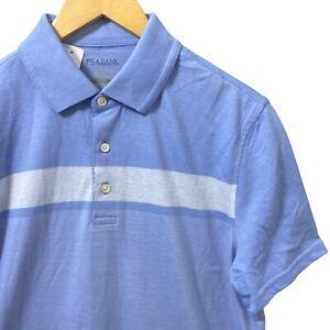 NWT Jos A Bank Mens Medium Tailored Fit Blue Travel Short Sleeve Polo Shirt M