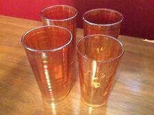 Jeannette? Marigold Carnival Glass Drink Glasses Set of 4