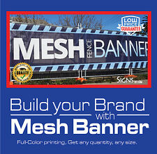 5' x 4' Custom Mesh Banner Full Color High Quality Hem + Grommet
