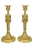 Bougeoirs angelots. Kaminuhr Empire clock bronze horloge antique cartel uhren