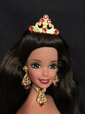 1997 Brunette Holiday BARBIE Doll•Green Eyes•Red Lips•TNT Body•Nude For OOAK