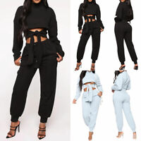 Casual Two Pieces Set Tracksuit Women Fall Winter Top+Pant Sweat Suits Outfits