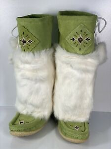 Womens Tecumseh Muklak Tall Boots Apple Green