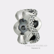 Authentic Pandora Sterling Silver Infinite Love Clear CZ Spacer 792101CZ