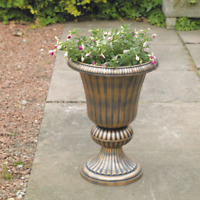 Kingfisher Classic Champagne Urn Plastic Flower Planter in Bronze