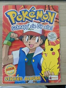 Pokemon Stickeralbum Merlin Series 1 - alle Sticker vollständig eingeklebt