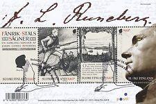 Finland 2004 Used Sheet J.L. Runeberg - Poet Author Scott 1203  First Day Cancel