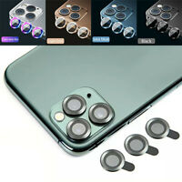 For iPhone 12 Pro Max Mini Metal Ring + Tempered Glass Camera Lens Protector