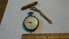 Antique POCKET WATCH & FOB Winding Cylinder 10 Ruby Remontoir Cylindre 10 Rubis