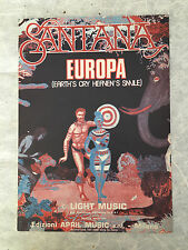 SPARTITO MUSICALE EUROPA EARTH'S CRY HEAVEN'S SMILE DEVADIP C.SANTANA T. COSTER